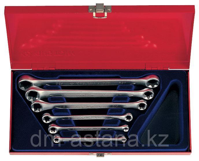 Набор накидных ключей, Е6-Е24, кейс, 6 предметов KING TONY 1406PR