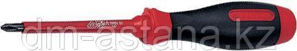 Отвертка крестовая Phillips №2, 100 мм, диэлектрическая KING TONY 14710204