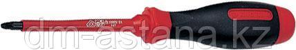 Отвертка крестовая Pozidriv №2, 100 мм, диэлектрическая KING TONY 14780204