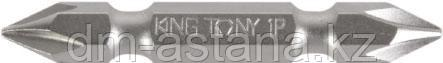 """Вставка (бита) торцевая 1/4"""", Phillips, PH1, L = 100 мм, двусторонняя KING TONY 151001P"""
