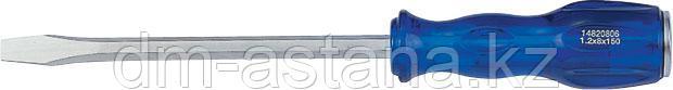 Отвертка шлицевая Slotted 10,0 мм 300 мм, силовая, пластиковая ручка KING TONY 14821012