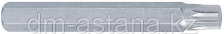 Вставка (бита) торцевая 10 мм, SPLINE, М6, L = 80мм KING TONY 168006M