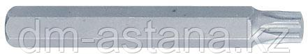 Вставка (бита) торцевая 10 мм, TORX, Т50, L = 80 мм KING TONY 168050T