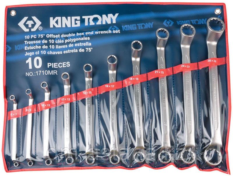 Набор накидных ключей, 6-32 мм, 10 предметов KING TONY 1710MR