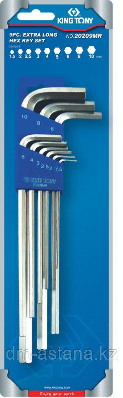Набор Г-образных шестигранников 1,5-10 мм, 9 предметов KING TONY 20209MR