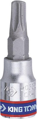 """Насадка (бита) торцевая 1/4"""", TORX T8, L = 37 мм KING TONY 203308"""