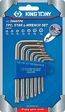 Набор Г-образных TORX, T10-T40, с отверстием, 7 предметов KING TONY 20407PR