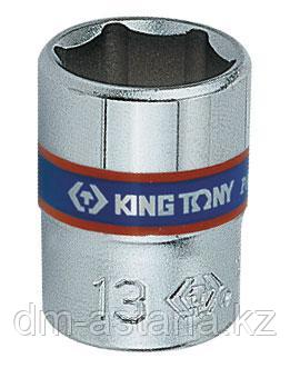 "Головка торцевая стандартная шестигранная 1/4"", 4 мм KING TONY 233504M"