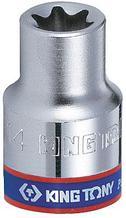 "Головка торцевая TORX Е-стандарт 1/4"", E4, L = 24 мм KING TONY 237504M"