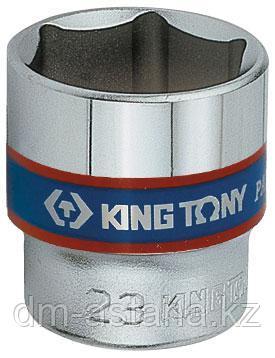 "Головка торцевая стандартная шестигранная 3/8"", 23 мм KING TONY 333523M"