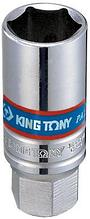 """Головка свечная шестигранная 3/8"""", 18 мм, пружинный фиксатор KING TONY 36A518"""