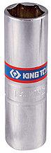 """Головка свечная шестигранная 3/8"""", 14 мм, пружинный фиксатор KING TONY 36A514"""