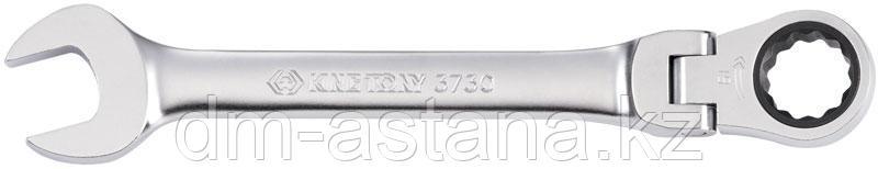 Ключ трещоточный комбинированный с шарниром 10 мм KING TONY 373010M