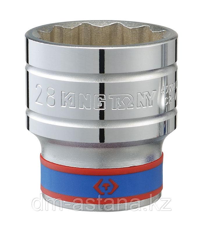 "Головка торцевая стандартная двенадцатигранная 1/2"", 27 мм KING TONY 433027M"
