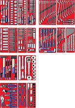 """Набор инструментов """"ЭКСПЕРТ"""" для тележки, 17 ложементов, 323 предмета МАСТАК 5-00323"""