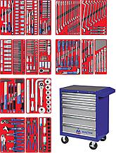 """Набор инструментов """"ЭКСПЕРТ"""" в синей тележке, 323 предмета МАСТАК 52-06323B"""