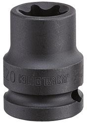 "Головка торцевая ударная TORX Е-стандарт 3/4"", E28, L = 56 мм KING TONY 657528M"