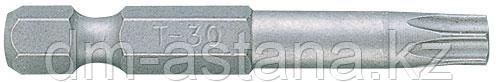 """Вставка (бита) торцевая 1/4"""", TORX, Т30, L = 50 мм, для шуруповерта KING TONY 715030T"""