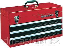 Ящик инструментальный, 3 ящика и отсек, красный KING TONY 87401-3