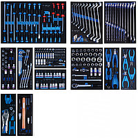 Набор инструментов для тележки, 12 ложементов, 235 предметов KING TONY 934-235MRVD