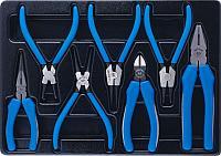 Набор съемников стопорных колец, пассатижей и бокорезов, ложемент, 7 предметов KING TONY 9-40207GP