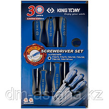Набор отверток в коробке, TORX, 6 предметов, в комплекте открывалка для бутылок KING TONY P30316PR