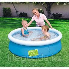 Детский бассейн с надувным верхом 152х38 см, Bestway 57241, фото 2