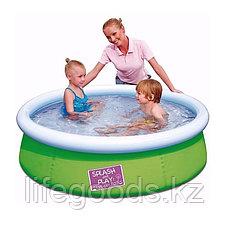 Детский бассейн с надувным верхом 152х38 см, Bestway 57241, фото 3