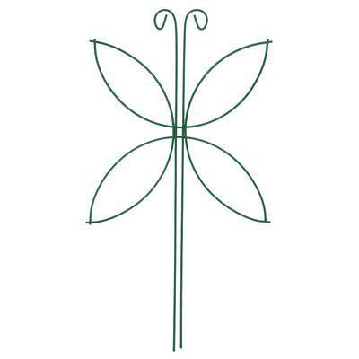 """Шпалера """"Мотылёк"""", 44 х 24 х 0.3 см, металл, зелёная"""