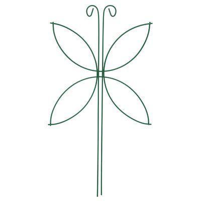 """Шпалера """"Мотылёк"""", 44 х 24 х 0.3 см, металл, зелёная, фото 2"""