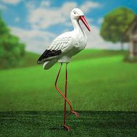 """Садовая фигура """"Аист малый на металлических ногах"""", 60 см"""