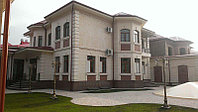 Отделка фасада - Жидкий травертин в г. Жанаозен
