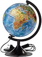 Глобус физический диаметр 21 см с подсветкой