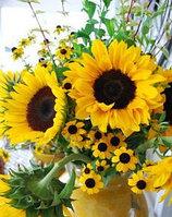 Искусственные цветы подсолнухи