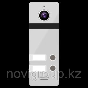 2-х абонентская цветная вызывная панель 800ТВЛ со сверхшироким углом обзора NOVIcam FANTASY 2 SILVER