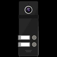 2-х абонентская цветная вызывная панель 800ТВЛ со сверхшироким углом обзора NOVIcam FANTASY 2 BLACK