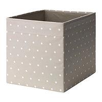 Коробка ДРЁНА бежевый 33x38x33 см ИКЕА, IKEA, фото 1