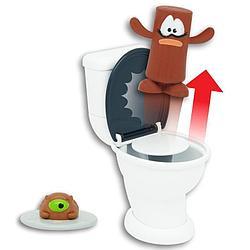Набор с 2 фигурками Poopeez - Туалет-лончер с пусковым механизмом, 1 серия