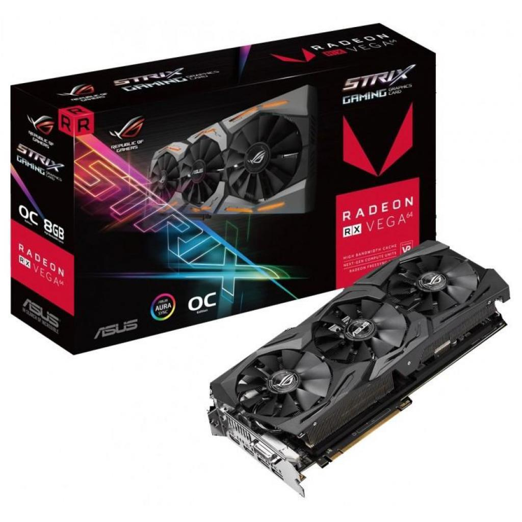 Видеокарта Asus ROG-STRIX-RXVEGA64-O8G-GAMING 90YV0B00-M0NM00