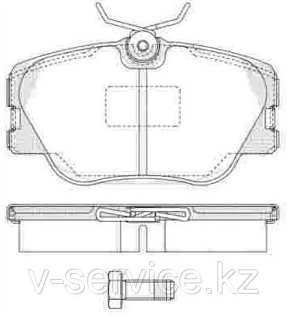 Тормозные колодки YOTO G-206(MD 7036)(REMSA 655.02)