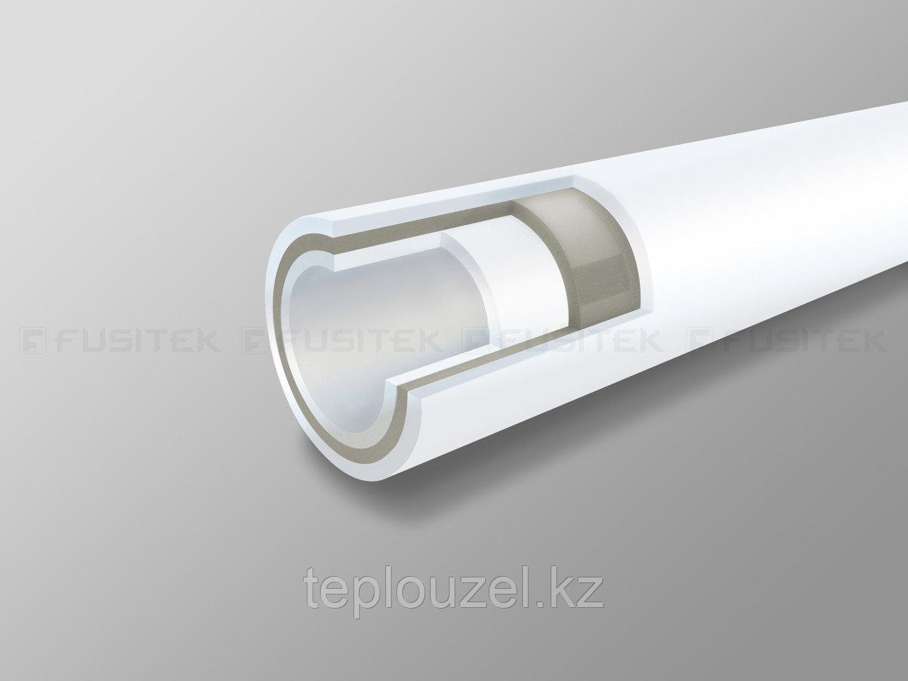 Труба композитная D50 из ППР со стекловолокном для ГВ и отопления