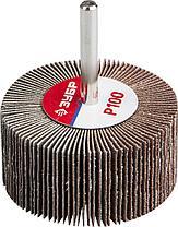 """Круги шлифовальные ЗУБР """"МАСТЕР"""" веерные лепестковые, на шпильке, тип КЛО, зерно-электрокорунд нормальный, фото 3"""