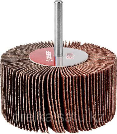 """Круги шлифовальные ЗУБР """"МАСТЕР"""" веерные лепестковые, на шпильке, тип КЛО, зерно-электрокорунд нормальный, фото 2"""