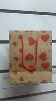Пакет крафт Влюбленность 11.5*14.0*5.5