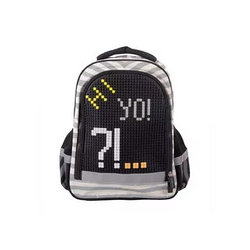 Рюкзак школьный с пикси-дотами серый