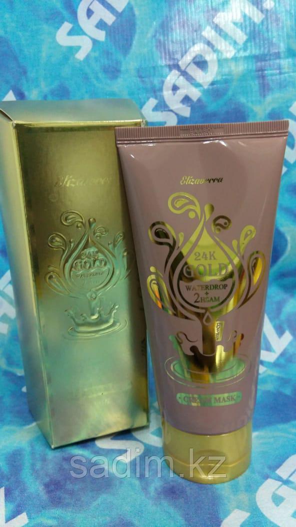 Elizavecca 24K GOLD Waterdrop 2HSAM Cream Mask - маска для лица, с 24К золотом, антивозрастная
