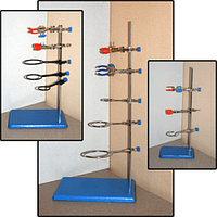 Штатив лабораторный для фронтальных работ ШФР-ММ (2 лапки, 3 кольца)