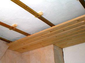 Монтаж вагонки на потолок