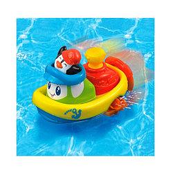 Заводная игрушка для ванны Кораблик  Пингвин