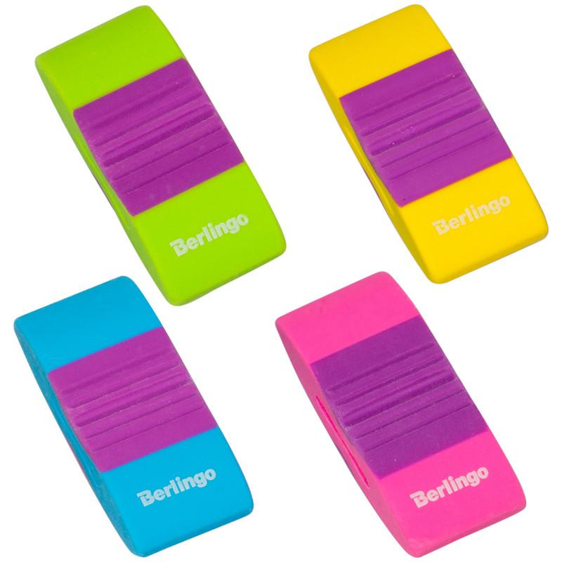 """Ластик Berlingo """"Color Zone"""" прямоугольный, термопластичная резина, 56*23*14мм"""
